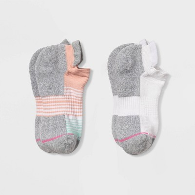 Dr. Motion Women's Ombre Striped Mild Compression Low Cut Socks - 4-10