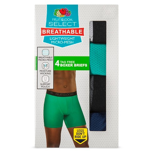 f1c40893a2f869 Men's 4pk Breathable Micro-Mesh Boxer Briefs Multi-Colored - Fruit Of The  Loom® : Target