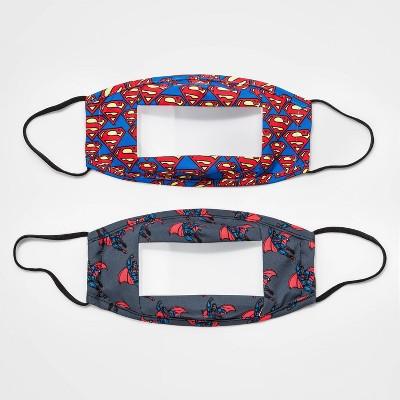 Kids' 2pk Superman Clear Panel Masks