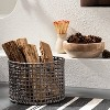 Manmade Rattan Outdoor Basket Gray - Threshold™ designed with Studio McGee - image 2 of 4