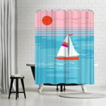 Americanflat Beach Huts 4 By Hans Paus 71 X 74 Shower Curtain Target
