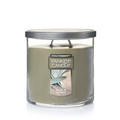 12.5oz Lidded Glass Jar 2-Wick Sage and Citrus Candle - Yankee Candle