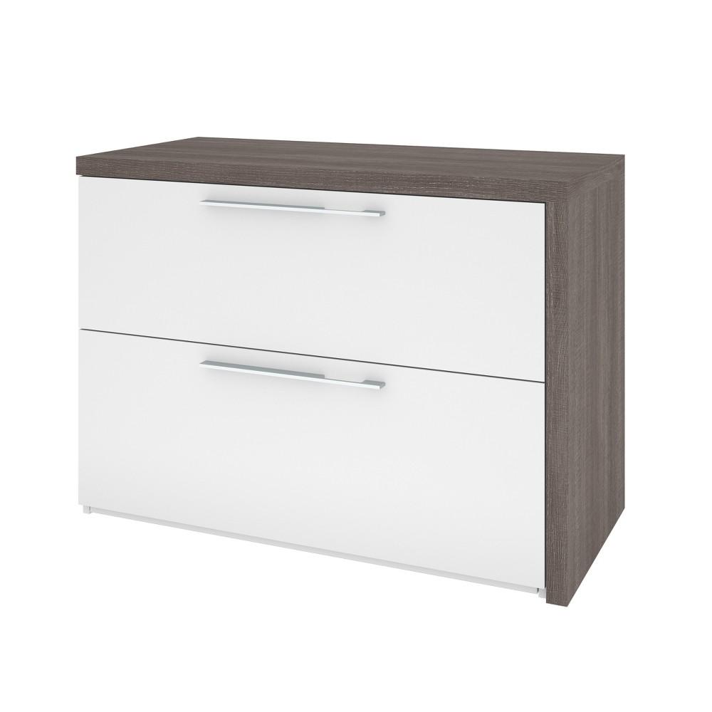 Small Space Sliding Computer Desk White - Bestar