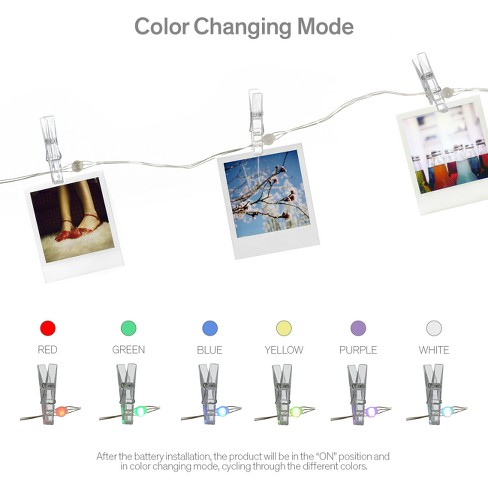 Fairy Color Changing With Photo Clips String Led Lights White Room
