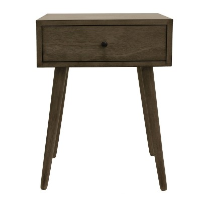 Mid Century One Drawer Wood Side Table - Décor Therapy