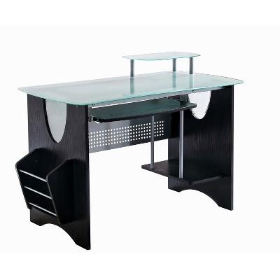 Tempered Glass Computer Desk - Techni Mobili