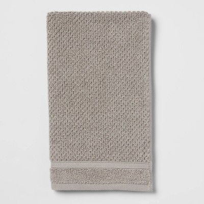 Performance Hand Towel Gray Texture - Threshold™