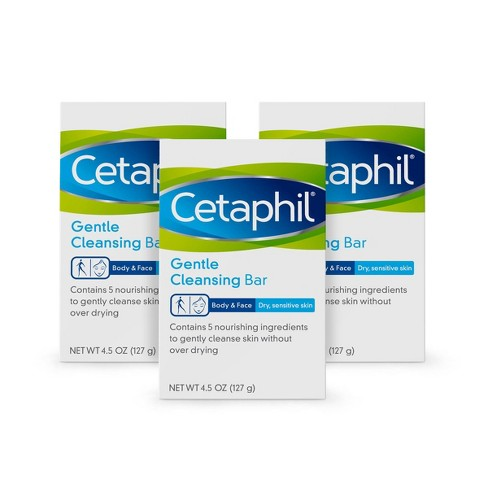 Cetaphil Gentle Cleansing Bar Soap - 3pk - 4.5 oz each - image 1 of 4