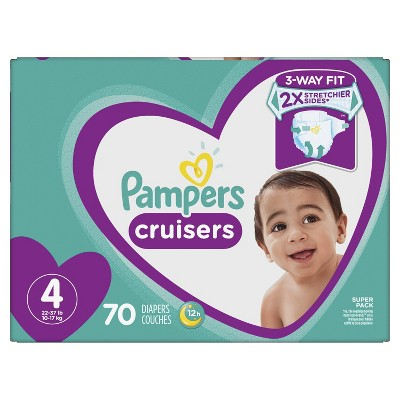 Pampers Cruisers Diapers Super Pack - Size 4 (70ct)