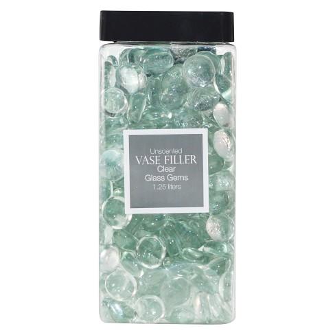 Glass Gems Vase Filler Clear 125l Lloyd Hannah Target