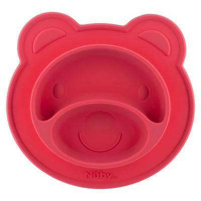 Nuby Bear silicone feeding mat - Pink