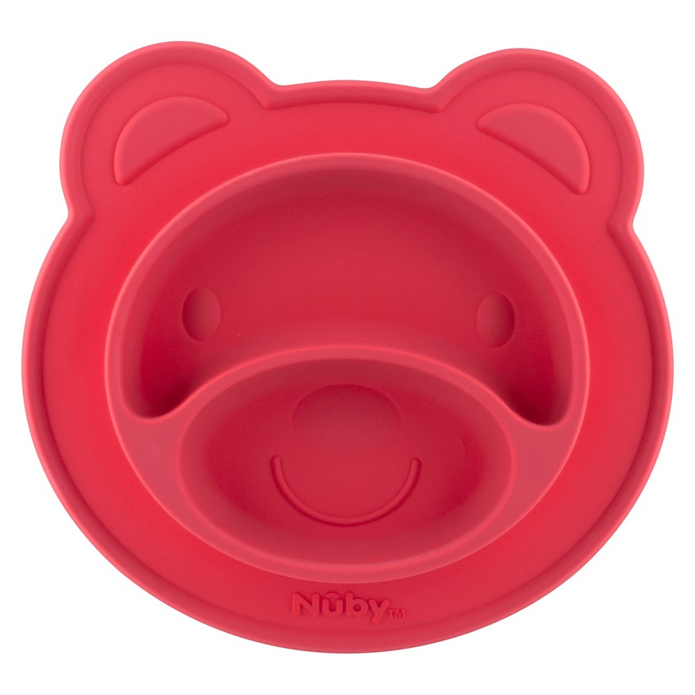 Nuby Bear silicone feeding mat - Pink, Multi-Colored