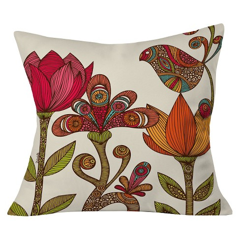 "Pink Valentina Ramos In The Garden Throw Pillow (20""x20"") - Deny Designs® - image 1 of 3"