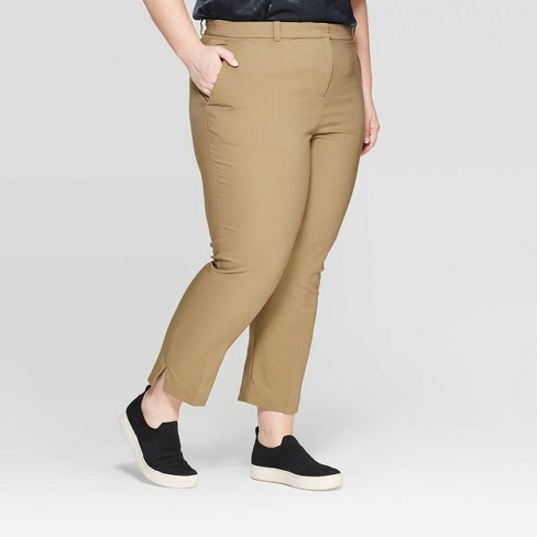 0527455272266 Women s Plus Size Mid-Rise Ankle Length Skinny Fashion Pants ...