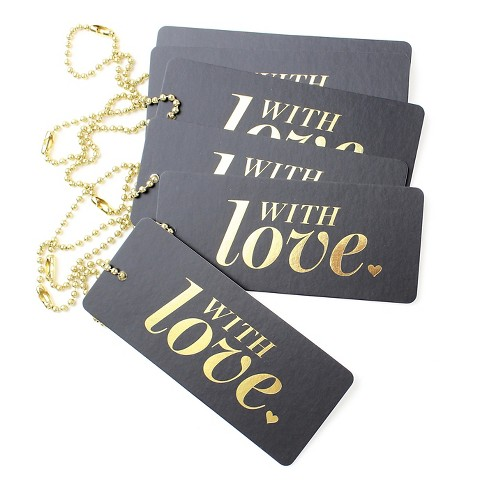 """6ct """"With Love"""" Luxe Tags - image 1 of 4"""