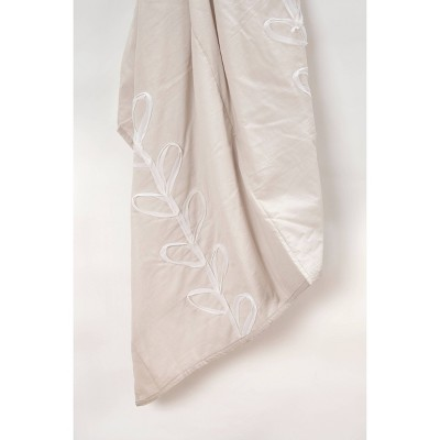 """50""""x60"""" Floral Throw Blanket White - Rizzy Home"""