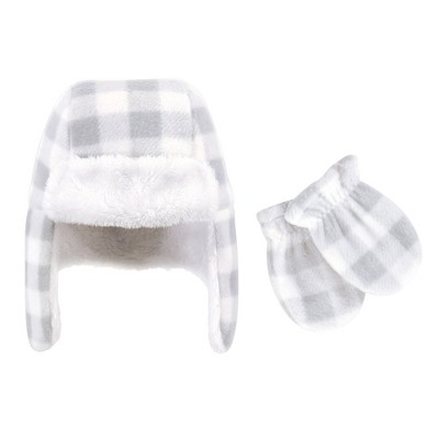 Hudson Baby Toddler Fleece Trapper Hat and Mitten 2pc Set