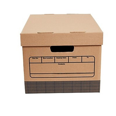 MyOfficeInnovations Medium Duty 100% Recycled Storage Boxes Letter/Legal Size 12/Pack 690747