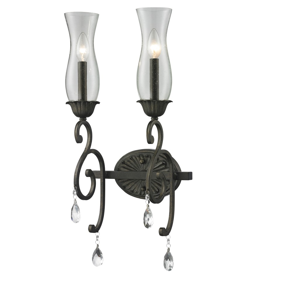 Sconce Wall Lights with Cognac Seedy Glass (Set of 2) - Z-Lite