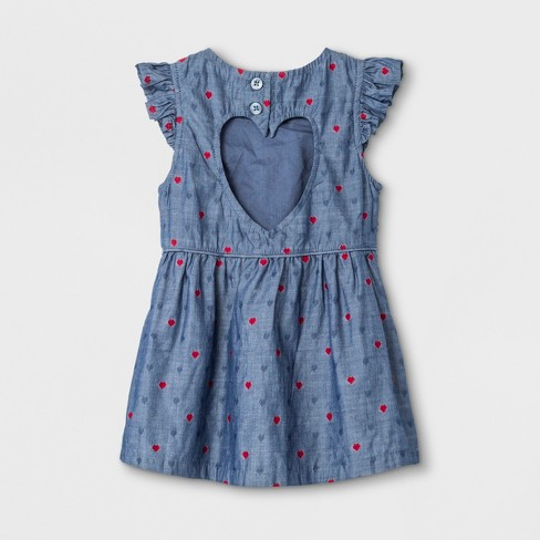 7a2eb54daf6c Baby Girls  Woven Dress And Panty - Cat   Jack™ Blue   Target