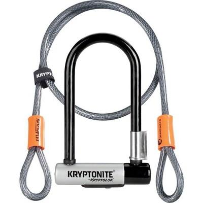 """Kryptonite KryptoLok U-Lock 3.25 x 7"""" Black with Cable"""
