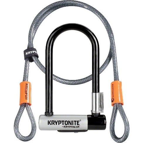 """Black Includes Keyed Kryptonite KryptoLok U-Lock 4 x 9/"""" KryptoLok U-Lock"""