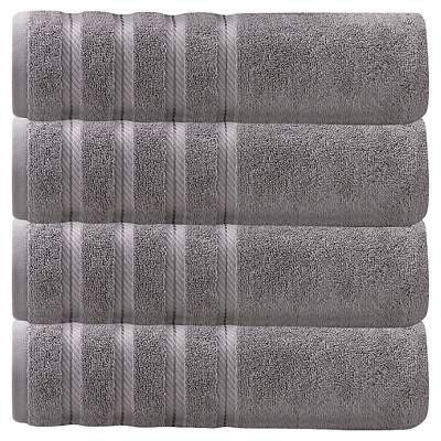 4pc Antalya Turkish Bath Towels Set Gray - Makroteks