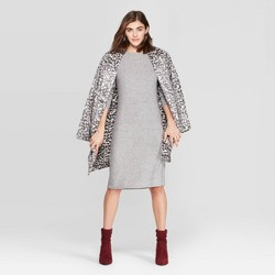 Women's Long Sleeve Crewneck Rib Knit Dress - A New Day™