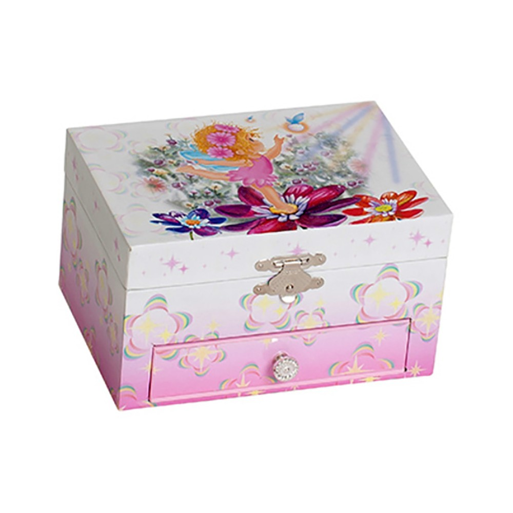 Image of Mele & Co. Ashley Girls' Musical Ballerina Fairy and Flowers Jewelry Box-Pink, Girl's