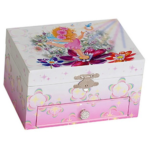 Mele & Co. Ashley Girls' Musical Ballerina Fairy and Flowers Jewelry Box-Pink - image 1 of 2