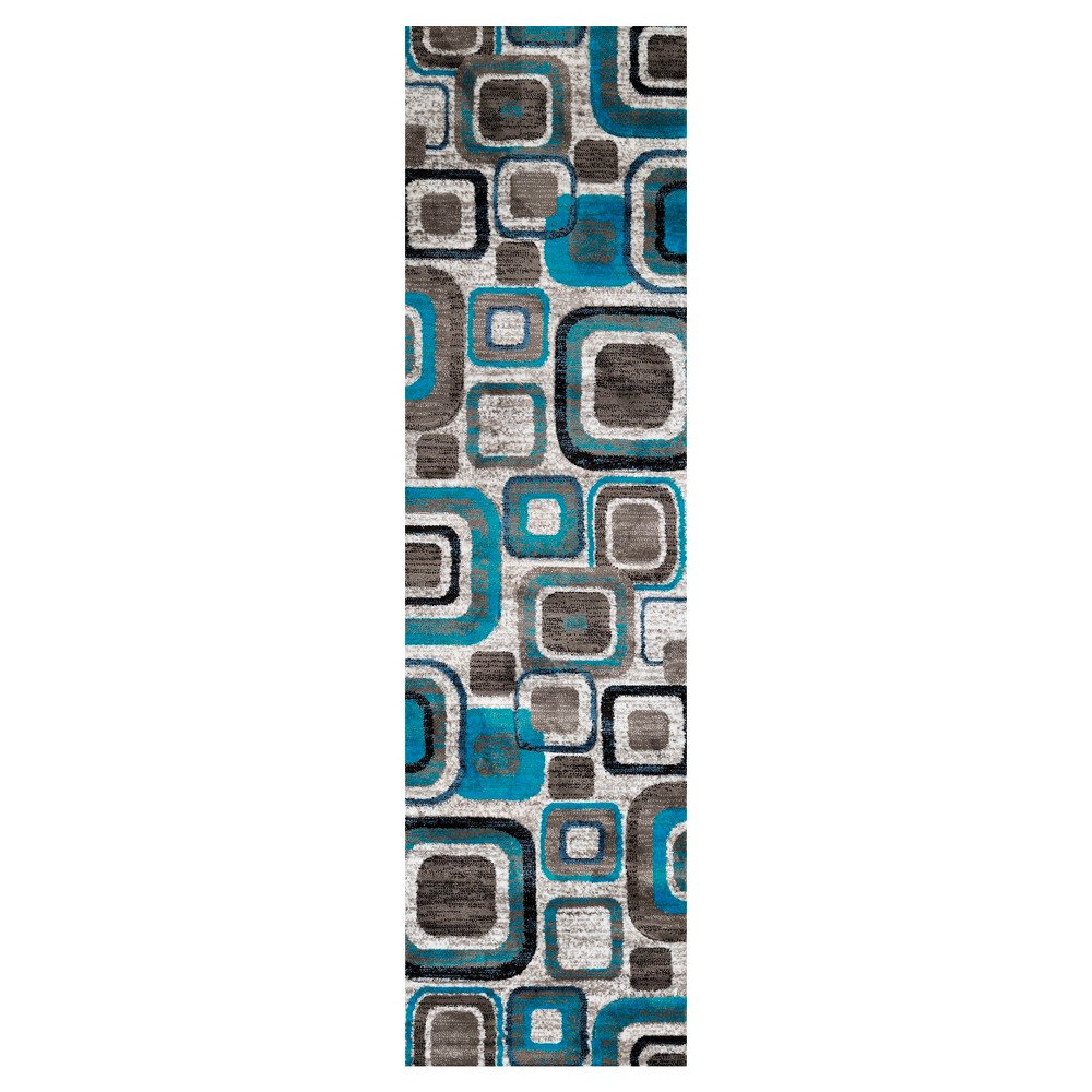 "Image of ""Blue Hooked Accent Rug - (1'11""""x3') - United Weavers"""