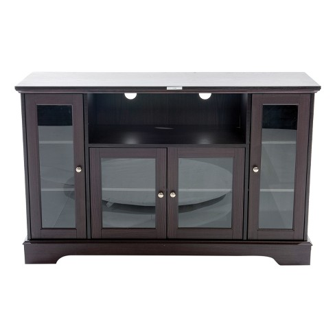 "60"" Wood TV Stand Dark Brown - Home Source Industries - image 1 of 4"
