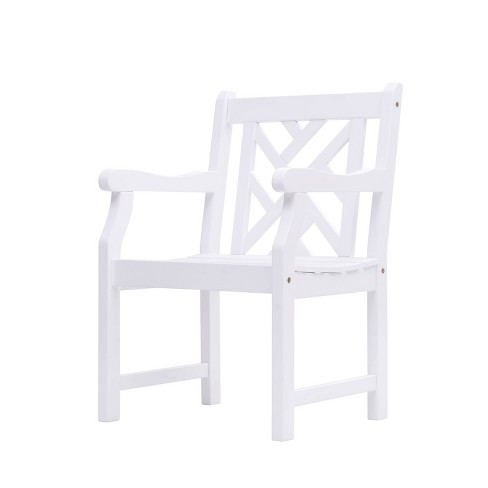 Vifah Outdoor Wood Armchair - White - image 1 of 3