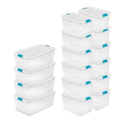 Sterilite 106 Qt. Plastic Storage Container (4 Pack) + 64 Qt Box (12 Pack)