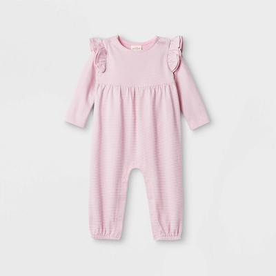 Baby Girls' Sparkle Jacquard Jumpsuit - Cat & Jack™ Pink 3-6M