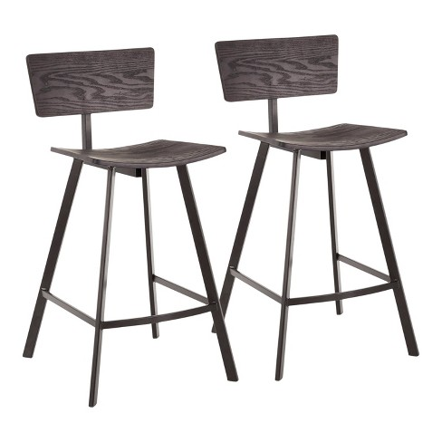 Swell Set Of 2 Rocco Industrial Counter Stool Lumisource Pdpeps Interior Chair Design Pdpepsorg