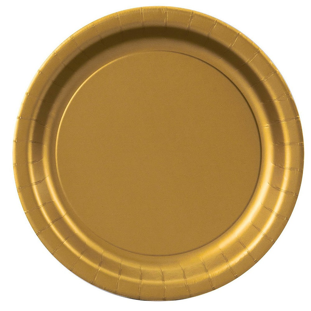 Glittering Gold 9 Paper Plates - 24ct