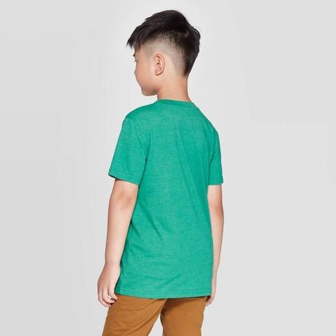 Boys' Short Sleeve Christmas Graphic T-Shirt - Cat & Jack™ Green