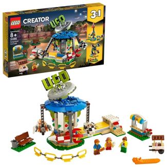 LEGO Creator Fairground Carousel Space-Themed Building Kit with Ice Cream Cart 31095