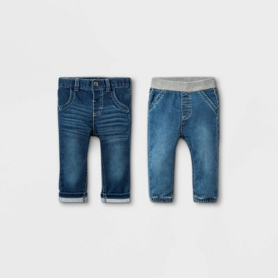 Baby Boys' 2pk Jeans - Cat & Jack™ Denim Blue 0-3M