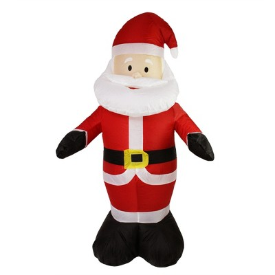 "Northlight 48"" Red and White Inflatable Santa Claus LED Lighted Christmas Outdoor Decor"