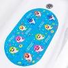 "Pinkfong Baby Shark Oval Bubble Bath Tub Mat 15.25""x27"" - image 4 of 4"