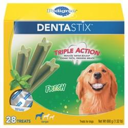 Pedigree Dentastix Fresh Large Treats for Dogs - 28ct