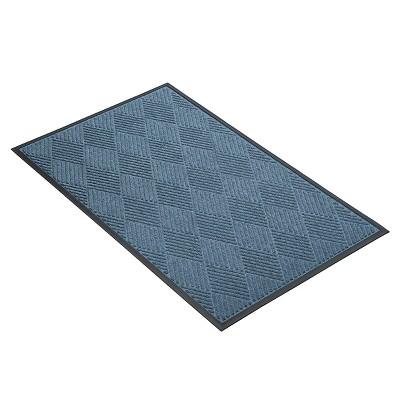 Blue Solid Doormat - (2'X3') - HomeTrax