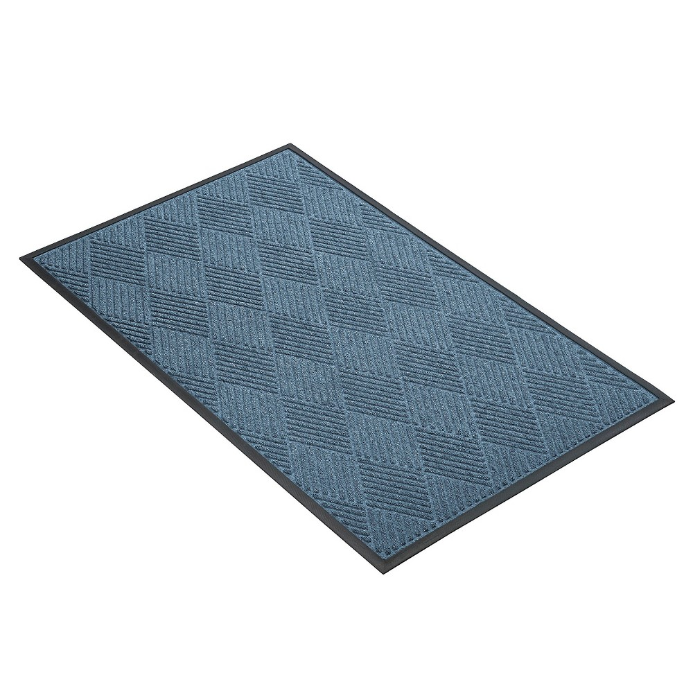 Image of Blue Solid Doormat - (2'X3') - HomeTrax