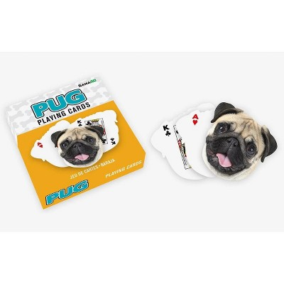 Gamago Pug-Shaped Playing Cards | 52 Card Deck + 2 Jokers