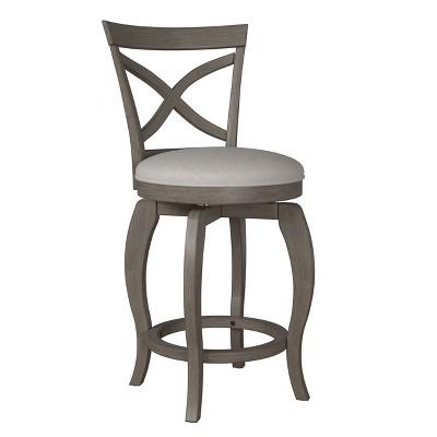 Ellendale Swivel Counter Height Barstool Gray - Hillsdale Furniture