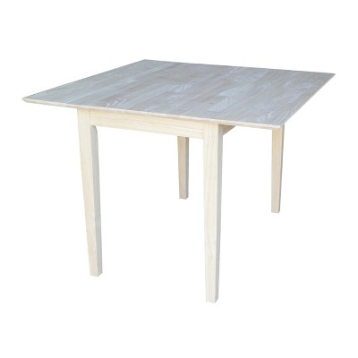 Dual  Square Dining Table Unfinished - International Concepts