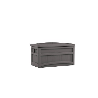 Suncast 73gal Deck Box With Seat Stoney Gray