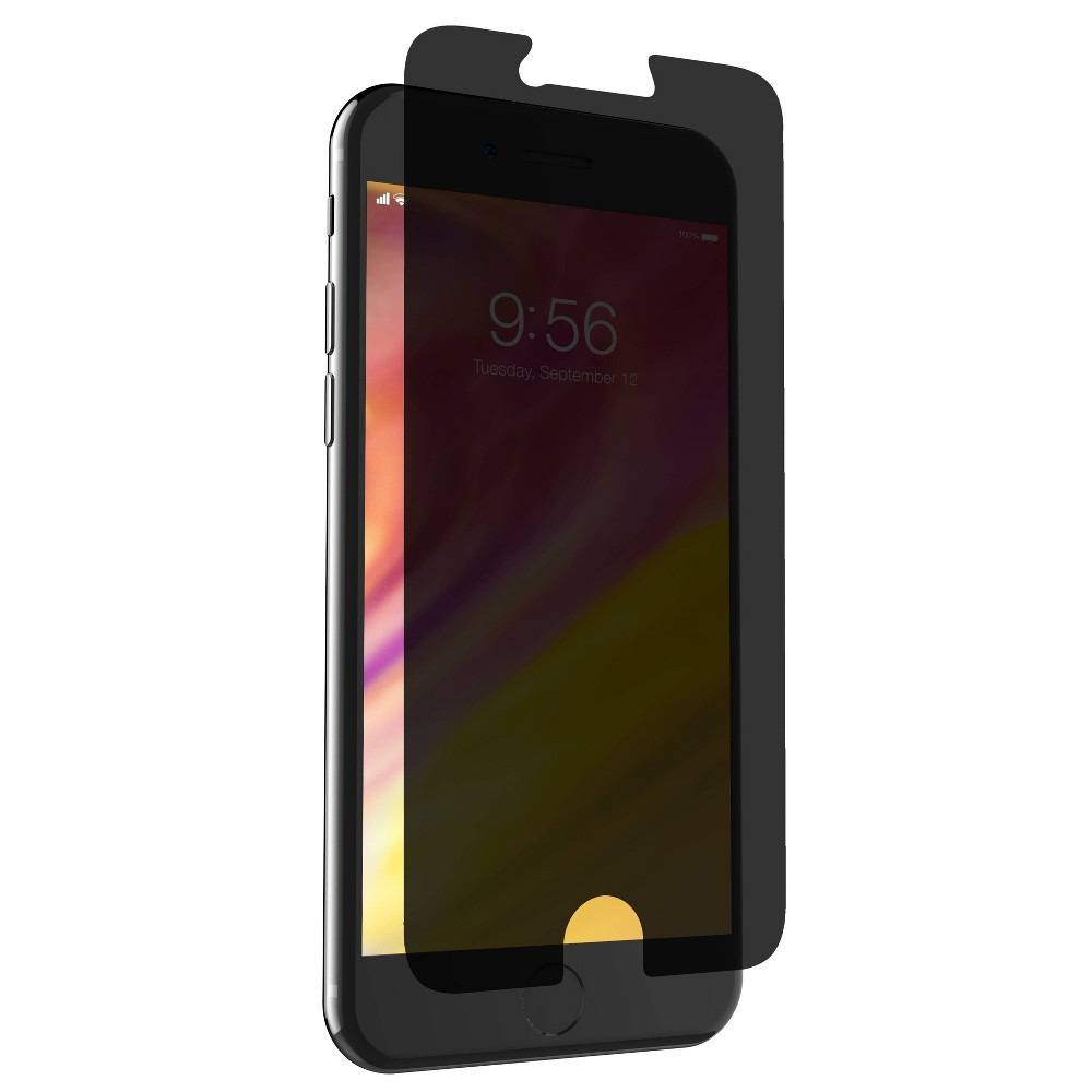 Zagg Apple iPhone 8 Plus/7 Plus/6s Plus/6 Plus InvisibleShield Glass+ Privacy Screen Protector, Clear Glass+ privacy - Protect your phone and your privacy with super sleek, super strong, two-way privacy glass. Proprietary Ion Matrix technology strengthens at the molecular level while retaining the smooth feel of glass. A precision surface finishing process provides maximum scratch resistance. The premium composition of this smooth tempered glass has remarkable touch sensitivity and 100 percent clarity. EZ Apply tabs make applying your Glass+ Privacy simple and accurate. Color: Clear. Pattern: Solid.